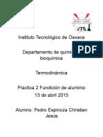 Instituto Tecnológico de Oaxaca Termodinamica
