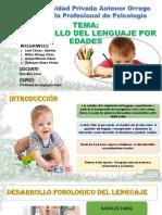 Problemas de Lenguaje y Habla Semana 06 Desarrollo Fonológico y Morfosintáctico Del Leanguaje
