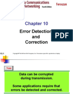 EROR DETECTION AND CORRECTION