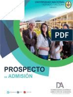 Prospecto Admisión Unheval 2018-I