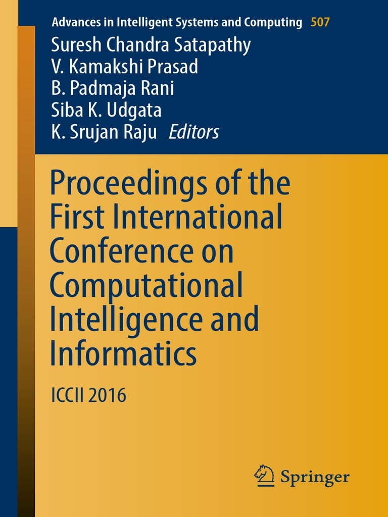 See page 7 - 16 (Advances in Intelligent Systems and