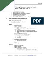 Shoulder- Rotator Cuff- Arthroscopic Rotator Cuff Repair Medium to Large Tears (Type II)