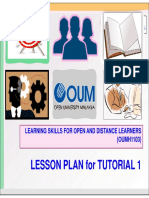 Lesson Plan for Tutorial 1 OUMH1103khvbkhv
