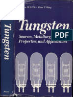 Tungsten Sources, Metallurgy, Properties and Applications