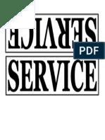 Service - Signage