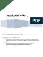 ISO 9001 2015 Transition Gap Analysis Checklist