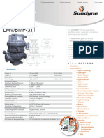 Sundyne LMV BMP 311 Centrifugal Pump Data Sheet