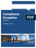Reliability Assurance Initiative-Compliance Exception Overview