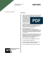 Examen NT2 Programma I luisteren 2002-2003