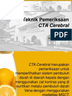 Teknik Pemeriksaan CTA Cerebral