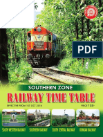 Railways South Zone Time Table 2016