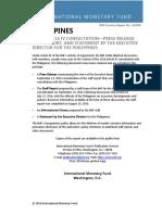 IMF Article IV Consultation Philippines 2016