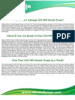 1Z0-965 Dumps - Oracle Human Capital Management Exam