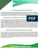 1z0-963 Dumps |  Oracle Procurement Cloud 2017 Certified 1z0-963 Exam