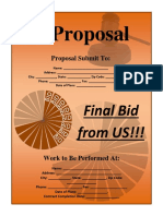 Bid Proposal Template 1