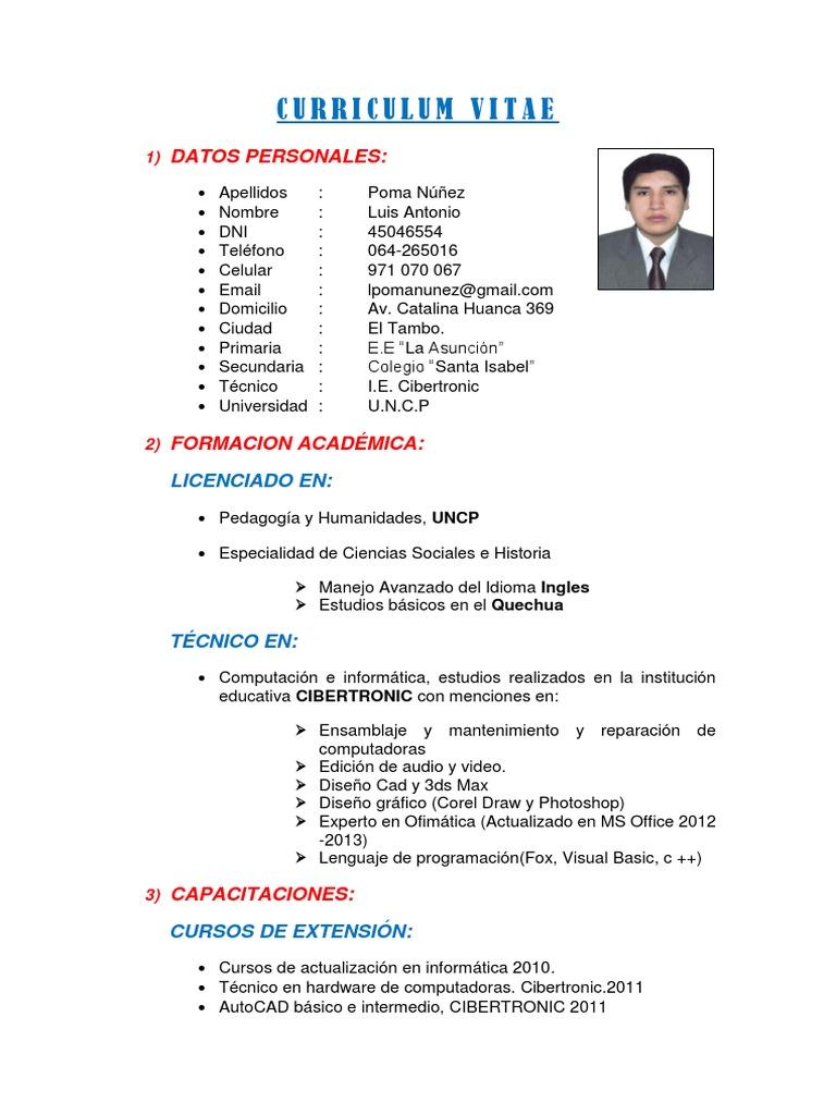 Fantástico Ejemplo De Currículum Técnico De Reparación De ...
