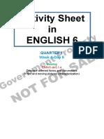 Activity Sheet English 6 Quarter 1 Week 4 Day 5