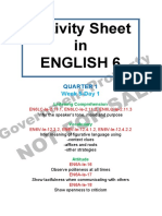 Activity Sheet English 6 Quarter 1 Week 5 Day 1