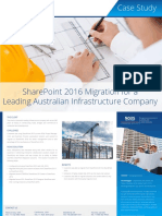 Sharepoint 2016 Migration for Leading Australian Construction Company