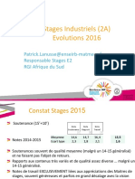 Organisation Stages E2 Avril2016