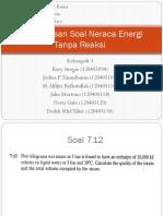 Pembahasan Soal Neraca Energi Tanpa Reaksi