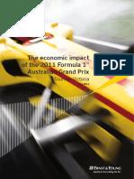 The Economic Impact of the 2011 Formula Grand Prix