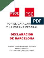 Declaració de Barcelona PSOE-PSC