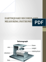 Earthquake Records and Measuring Instruments