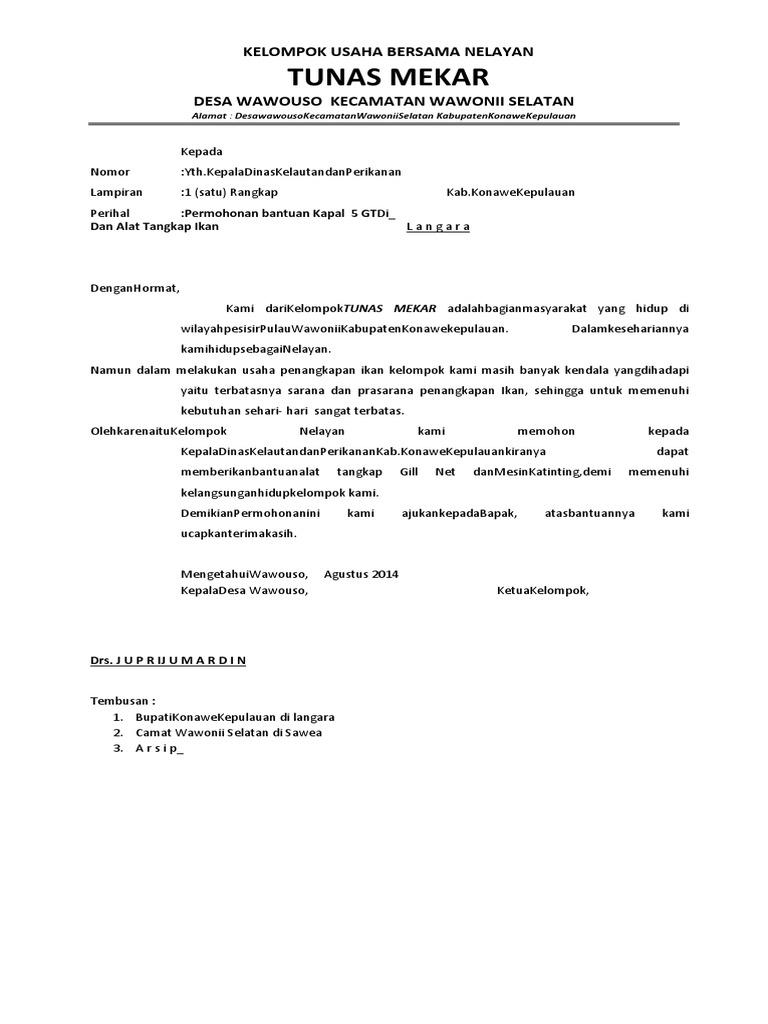 Contoh Proposal Dari Rahmad Ikan Docx