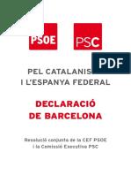 Declaració de Barcelona PSC i PSOE