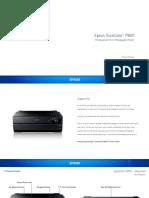 Epson SureColor P800 A2 Inkjet ProPhoto Printer Datasheet