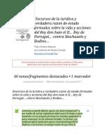 Notas de %22 Discursos de la iuridica y verdadera razon de estado formados sobre la vida y acciones del Rey don Iuan el II... Rey de Portugal... contra Machauelo y Bodino...pdf