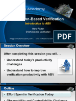 01 Course Assertion-based Verification Session1 Introduction to Abv Hfoster