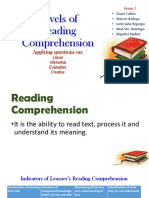 Levels of Reading Comprehension