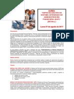 Temario - Especializacion en Sistemas Integrados de Administracion Financiera - Siaf