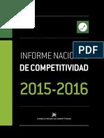 Informe Nacional de Competitividad 2015_2016