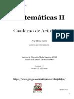 Cuaderno de Actividades para Matemáticas 2