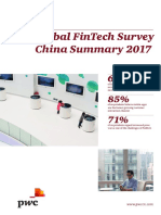 PwC Global Fintech Survey China Summary Jun2017