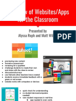 Overview of Websites/Apps for the Classroom Training