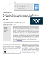 Nutritional Evaluation of Children Meals at Egyptian Sc 2011 Annals of Agric