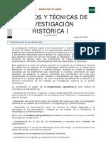 Métodos y Técnicas de Investigación I