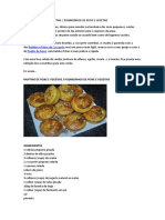Muffins de Peixe e Vegetais