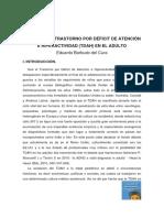 Concepto e Historia Del TDAH Del Adulto