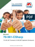 Pass4sure 70-561-CSharp TS- MS .NET Framework 3.5 ADO.NET Application Development exam braindumps with real questions and practice software.