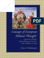 Cary Nederman Lineages of European Political Thought Explorations Along the Medieval Modern Divide From John of Salisbury to Hegel