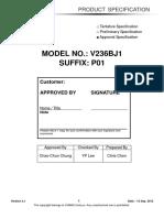 Panel Chimei Innolux v236bj1-p01 2