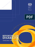 Reporting on Disability