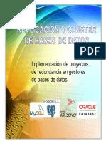 Replicación y Cluster de Bases de Datos