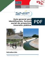 1. Aspectos Generales de Proyectos Sociales Metodologia SNIP
