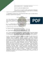 Decreto Legislativo Descrição Cargos